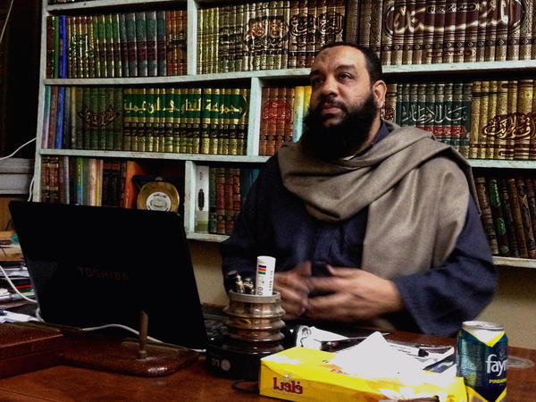 Sheikh Gamal Saber, founder of a Salafi party called Ansar, is banding with other Salafi groups behind a hardline agenda that would ban alcohol, segregate the sexes and require women to wear veils.