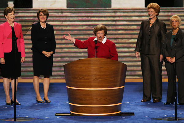 Sen. Barbara Mikulski, D-Md., speaks at the Democratic National Convention last year in Charlotte, N.C. She's the first woman ever to chair the Senate Appropriations Committee.