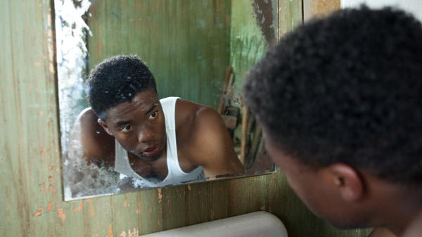 Chadwick Boseman plays baseball's trailblazing Jackie Robinson in the upcoming biopic <em>42</em>.