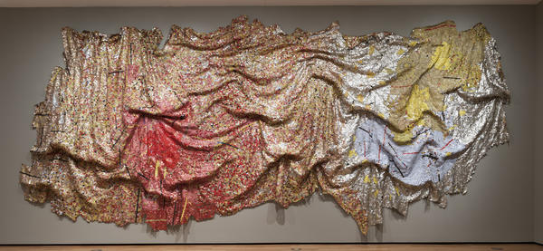 <em>Gravity and Grace</em> by El Anatsui, 2010.