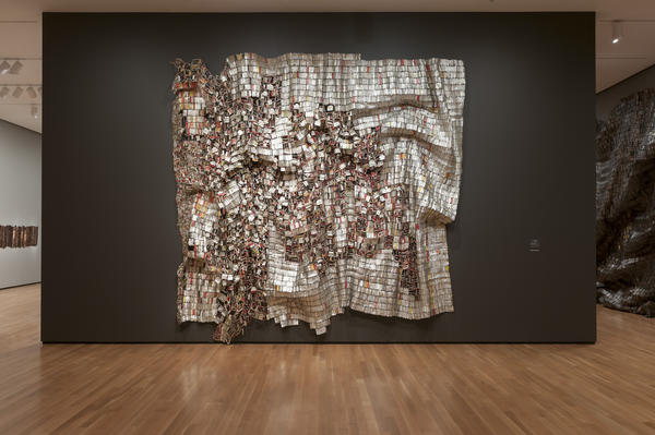 <em>Ozone Layer</em> by El Anatsui, 2010.