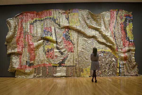 <em>Earth's Skin </em>by El Anatsui, 2007.