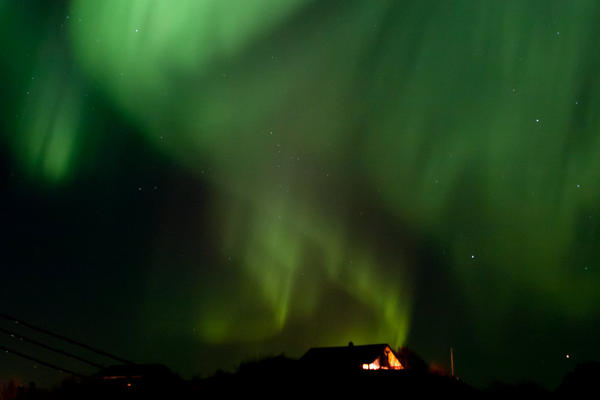 The reward for enduring the winter's almost perpetual darkness is the stunning northern lights.