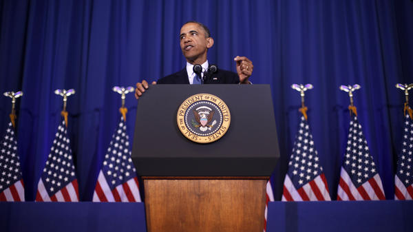 President Obama delivers a speech on national security Thursday at the National Defense University at Fort McNair in Washington.