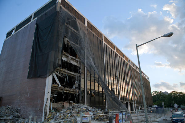 NPR's Uri Berliner discovers that among his REIT holdings is one that owns the Washington, D.C., site where, until recently, NPR had its headquarters. The building is being torn down and a new building with law offices will go up in its place.