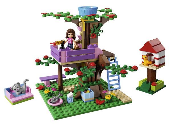 Olivia also has a treehouse.