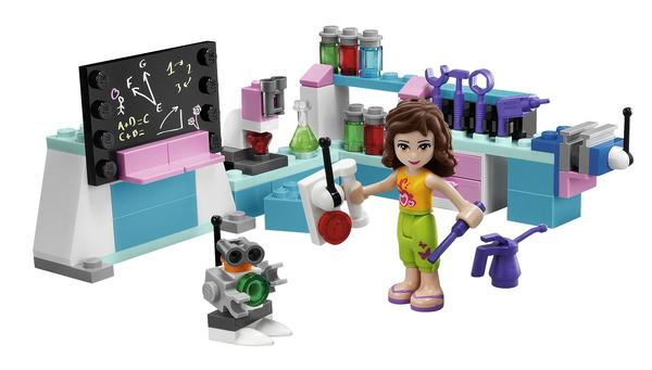 There's a workshop, too, with a chalkboard and a robot.