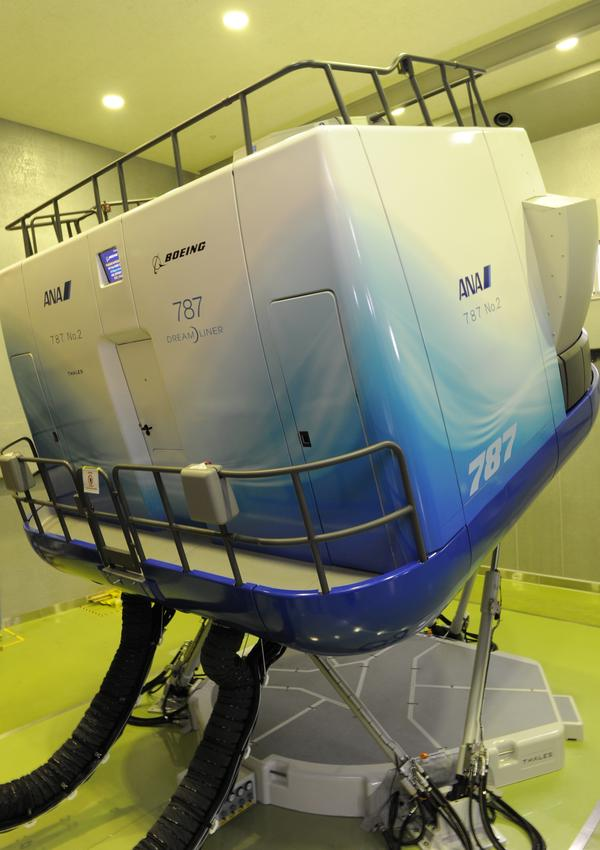 Simulators mimic the full movement of a plane during takeoff, flight and landing. They're also used to prepare pilots for problems like engine fires and aborted takeoffs.