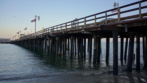 The pier at Stearns Wharf in Santa Barbara — and in Grafton's fictional Santa Teresa — hosts restaurants, fishermen and a psychic.