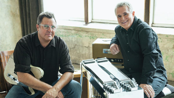 Vince Gill and Paul Franklin, two country legends, pay tribute to Merle Haggard and Buck Owens on a new album.