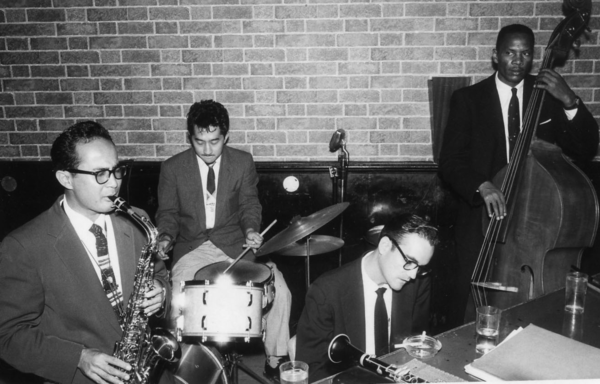The Paul Togawa Quartet at the El Sereno Club in Los Angeles in the late 1950s. Left to right: Gabe Baltazar, Paul Togawa, Dick Johnston, Buddy Woodson.