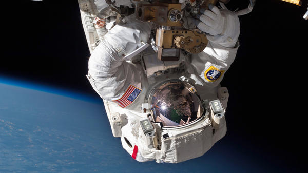 While almost all of NASA's employees have been furloughed because of the government shutdown, ground control activities for the International Space Station are still operational. Above, astronaut Chris Cassidy on a spacewalk aboard the ISS on May 11.
