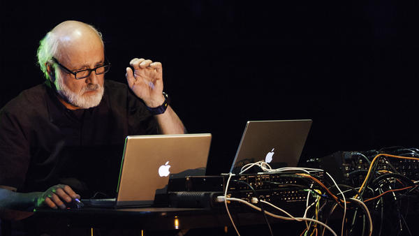 Morton Subotnick performs at New York's La MaMa Experimental Theatre Club in 2004. The pioneering electronic composer recently created a mobile app for children.