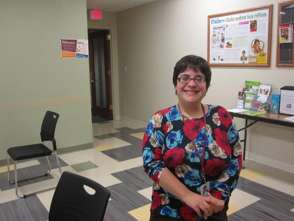 """Alexandra Dixon is one of 350 """"navigators"""" hired to help people sign up for health insurance in Maryland."""