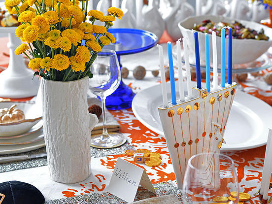 "Jewish tradition and Thanksgiving have even the importance of table-setting in common. The code of Jewish law, the <em>schulchan oruch,</em> means ""the set table."""