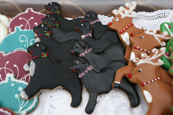 This year's White House holiday cookies included Bo and Sunny, the Obama family dogs.