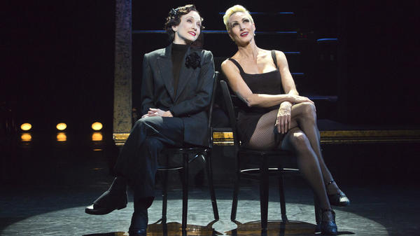 Taking on her third role in the long-running revival of the musical <em>Chicago,</em> Bebe Neuwirth (left) plays prison matron Mama Morton. Amra-Faye Wright currently plays Velma Kelly — the part for which Neuwirth won a Tony Award in 1997.