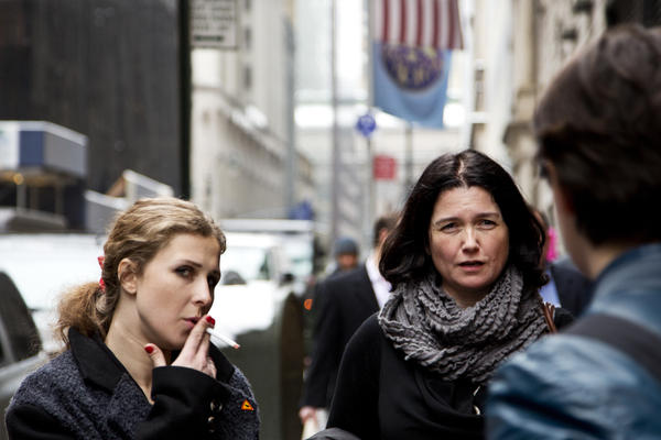 "Maria ""Masha"" Alyokhina (left) of Pussy Riot in New York City."