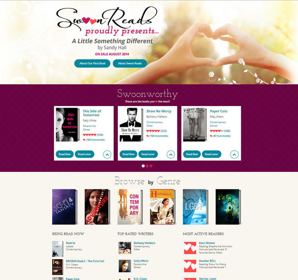 "<a href=""http://www.swoonreads.com/"">Swoon Reads</a> — Macmillan's new young adult romance imprint — solicits manuscripts and invites users to read and rate them. The most popular manuscript gets a first printing of 100,000 copies."