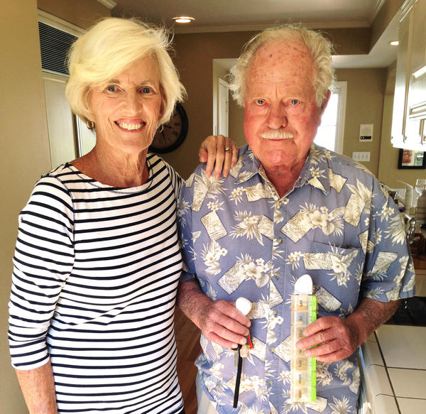 Katy Fike's parents, Dorothy and Frank Thomas, help her test devices designed to help older people.