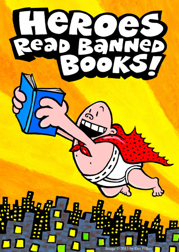 <strong>Repeat Offender:</strong> Dav Pilkey created artwork for Banned Books Week featuring his frequently complained-about hero, Captain Underpants.