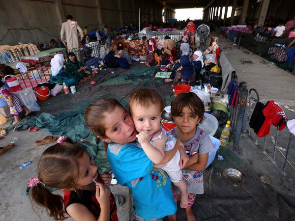 Iraqis at the Baharka camp for displaced people face real danger as the winter approaches with sub-zero temperatures.