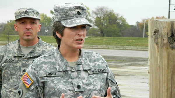Joni Ernst, who is running for U.S. Senate, commands the largest battalion in the Iowa Army National Guard.