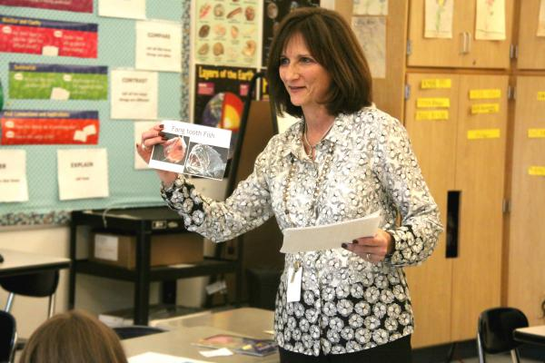 Karen English has taught in the Revere, Mass., schools for 36 years.
