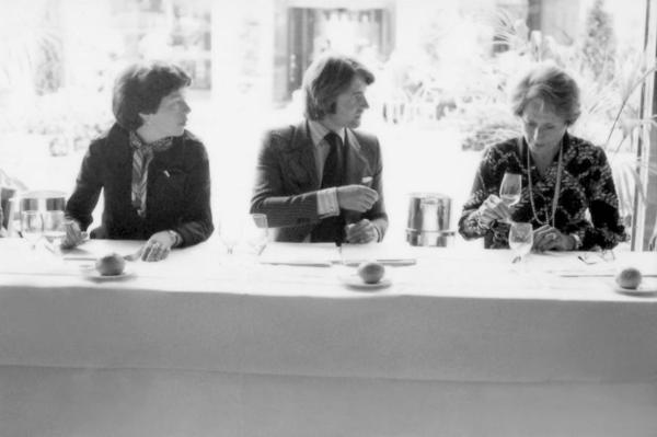 """Patricia Gallagher (from left), who first proposed the tasting; wine merchant Steven Spurrier; and influential French wine editor Odette Kahn<em>. </em>After the results were announced, Kahn is said to have demanded her scorecard back. """"She wanted to make sure that the world didn't know what her scores were,"""" says George Taber, the only journalist present that day."""