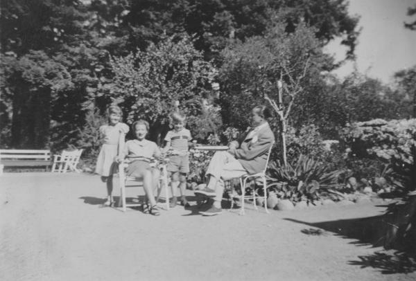 Patricia Bosworth (far left) is pictured above with her family in Aptos, Calif., in 1942. She ultimately became a writer, like her mother. Her father, Bartley Crum, defended blacklisted Hollywood producers, directors and screenwriters. Both he and her brother, Bart Jr., committed suicide in the 1950s.