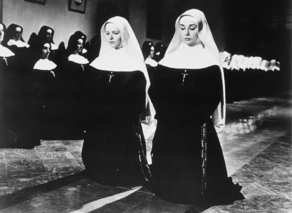 Bosworth (left) starred alongside and Audrey Hepburn in the 1959 film <em>The Nun's Story.</em>