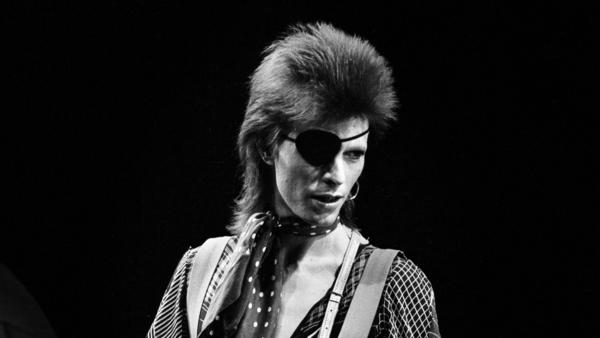 "David Bowie, performing ""Rebel Rebel"" on Feb. 13, 1974."
