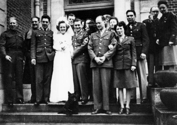 Gen. Dwight D. Eisenhower's driver, Pearlie Hargrave, and Sgt. Michael McKeogh, his orderly, were married at Versailles during World War II. The Battle of the Bulge broke out the same day, so Eisenhower had to leave the reception early.