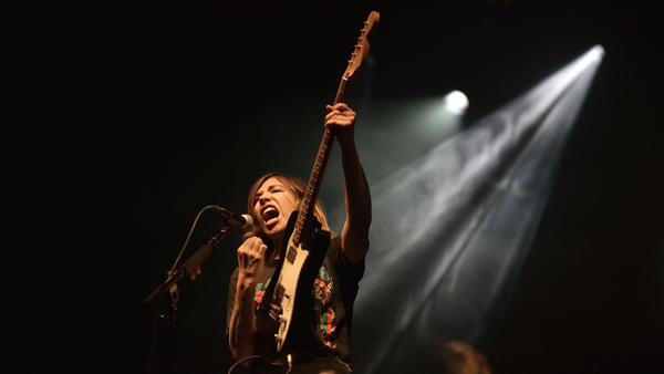 Carrie Brownstein performs at Riot Fest on Sept. 2, 2016, in Denver, Colo.