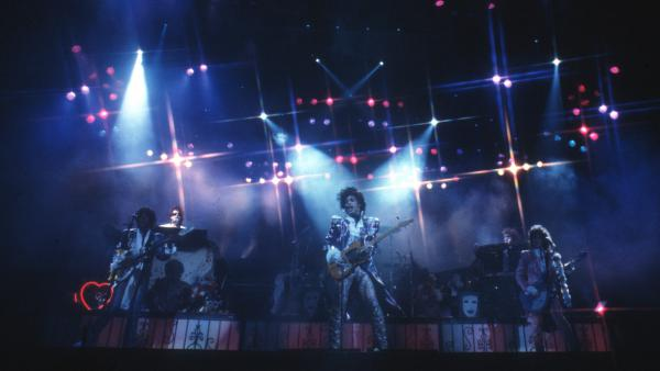 Prince and The Revolution perform Feb. 19, 1985, in Inglewood, Calif.