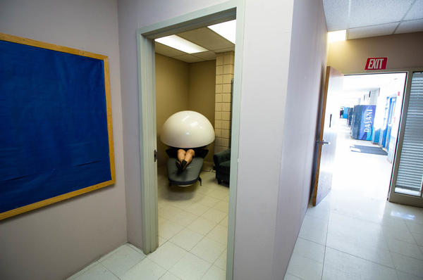 Las Cruces High School has one napping pod, which students use for 20 minutes when they are tired, stressed or angry.