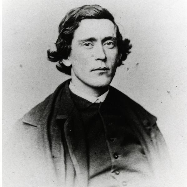 A photographic portrait of Robert Kennicott taken before his death in 1866. Kennicott was one of the earliest contributors to the Smithsonian Institution.