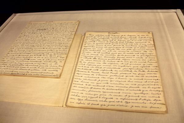 An early longhand manuscript of de Beauvoir's <em>The Second Sex.</em>
