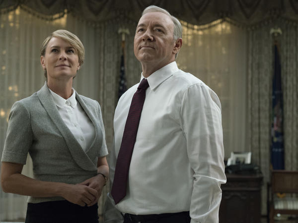 <em>House of Cards</em> power couple Frank and Claire Underwood (played by Robin Young and Kevin Spacey) have an open marriage.