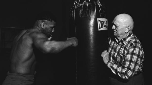 """Mike Tyson and Cus D'Amato in training. """"I'm not a creator,"""" D'Amato once said. """"What I do is discover and uncover."""""""