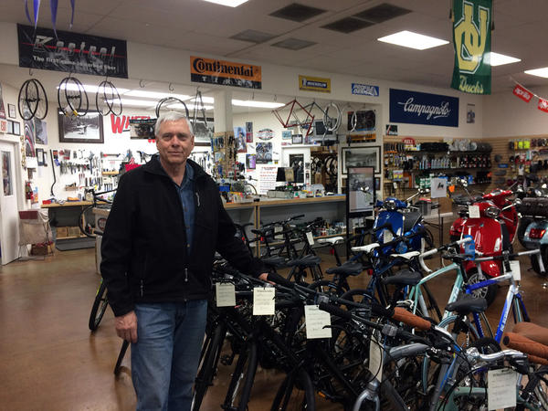 Bill Cole owns Wheelworks Bicycle Shop in Eugene, Oregon.