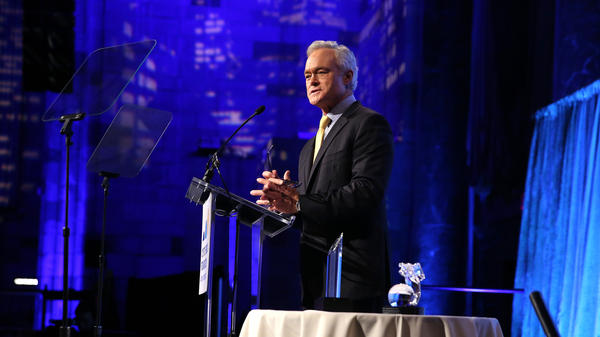 Then-anchor and Managing Editor of the <em>CBS Evening News</em> Scott Pelley hosts the Cystic Fibrosis Foundation's 60th Anniversary Gala in November 2015 in New York. Pelley is leaving the program and will focus more on his work for <em>60 Minutes</em>.
