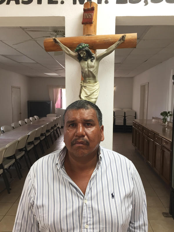 Jesus Morales, a migrant from Monterrey, Mexico, came to Matamoros expecting to swim the river illegally and find  work in Texas, but the border crackdown changed his plans.