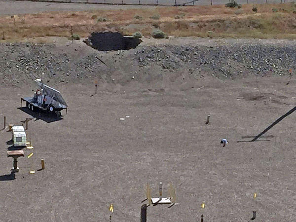 File photo of a tunnel at the Hanford nuclear site that partially collapsed on May 9.