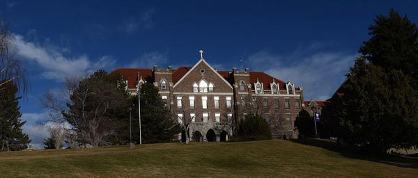St. Charles Hall at Carroll College in Helena, MT.