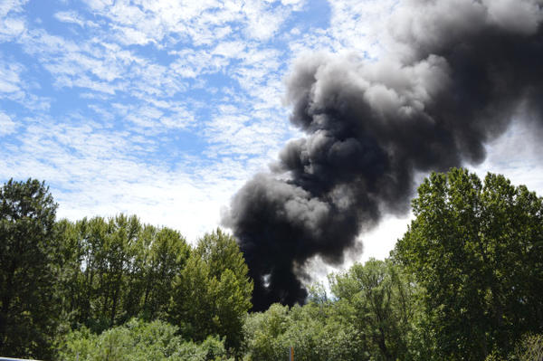 <p>ODOT reported the train fire shut down Interstate 84 westbound in The Dalles at mile post 87 and eastbound in Mosier at mile post 64.</p>