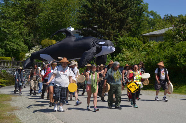 <p>Trans Mountain pipeline and oil tanker protest in Vancouver, British Columbia on May 28, 2017</p>