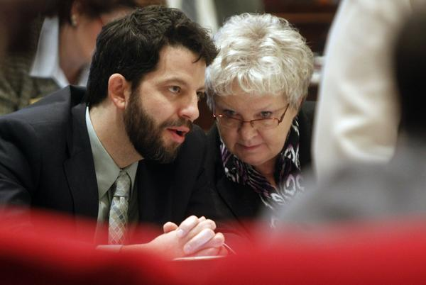 Chittenden County Sen. Chris Pearson, left, wants Vermont to join a coalition of states seeking to affirm the United States' role in reducing global carbon emissions.