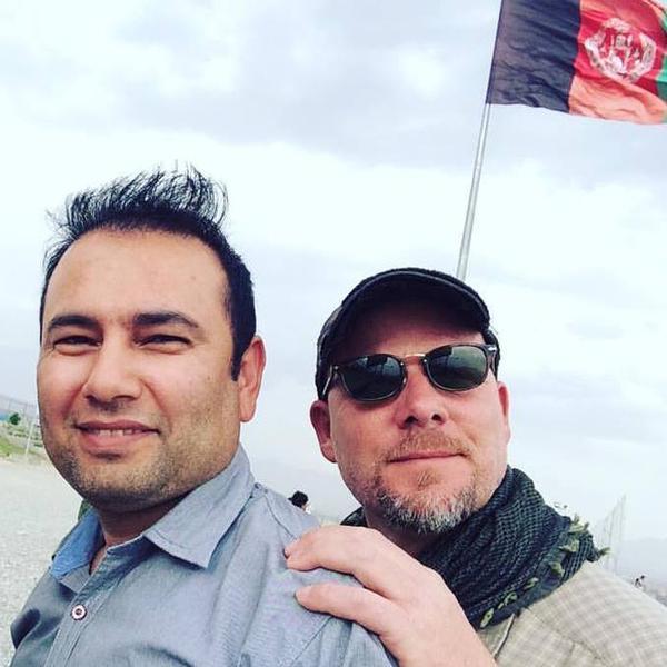 NPR photo journalist David Gilkey and NPR Afghan interpreter Zabihullah Tamanna.