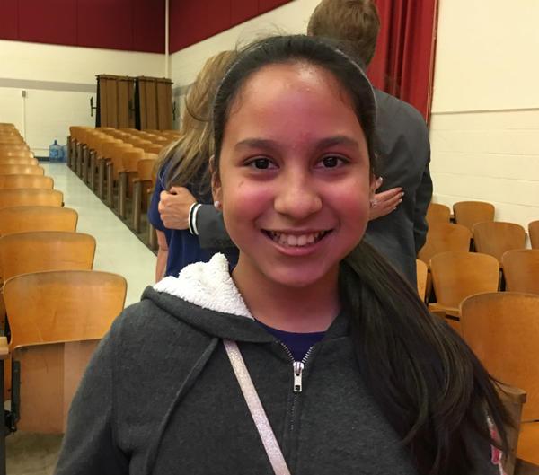 Westcliff 5th grader Naomi Cepeda was impressed by pianist Belyavskiy's musical passion.